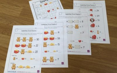 Valentine Maths Picto-Puzzles Free Download