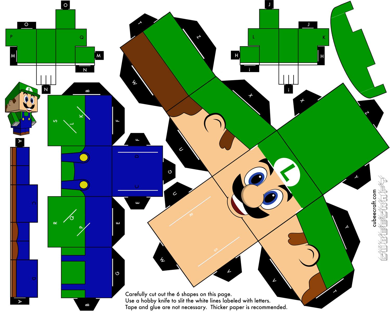 luigi_mario_bros___cubeecraft___papercraft_by_marcokobashigawa-d6z2lux